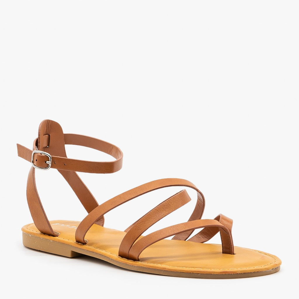 Womens Strappy Summer Sandals - Bamboo Shoes