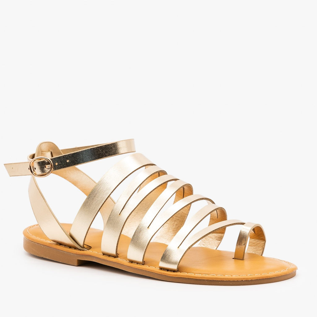 Womens Strappy Zig Zag Sandals - Bamboo Shoes