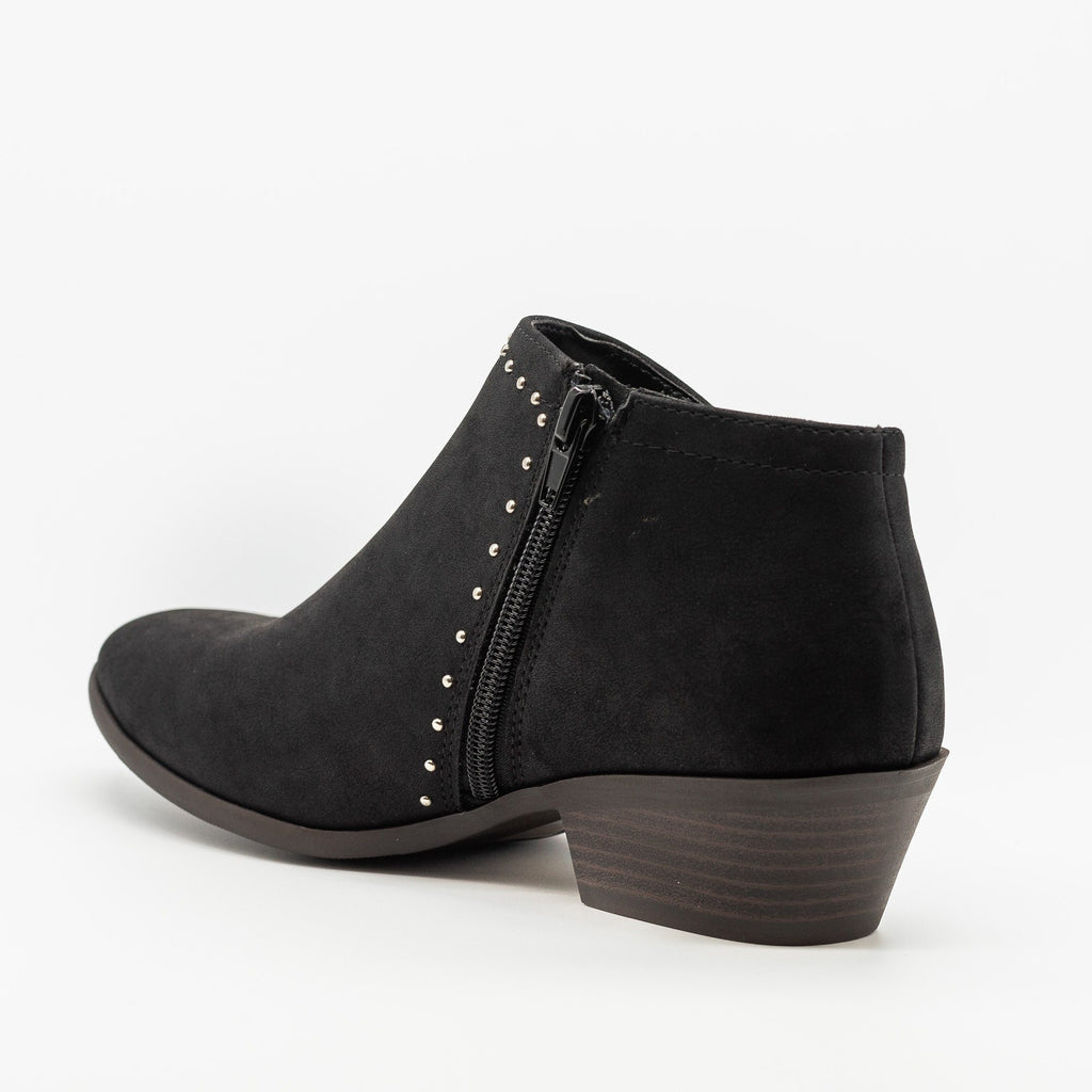 Womens Studded Accent Ankle Booties - Soda Shoes
