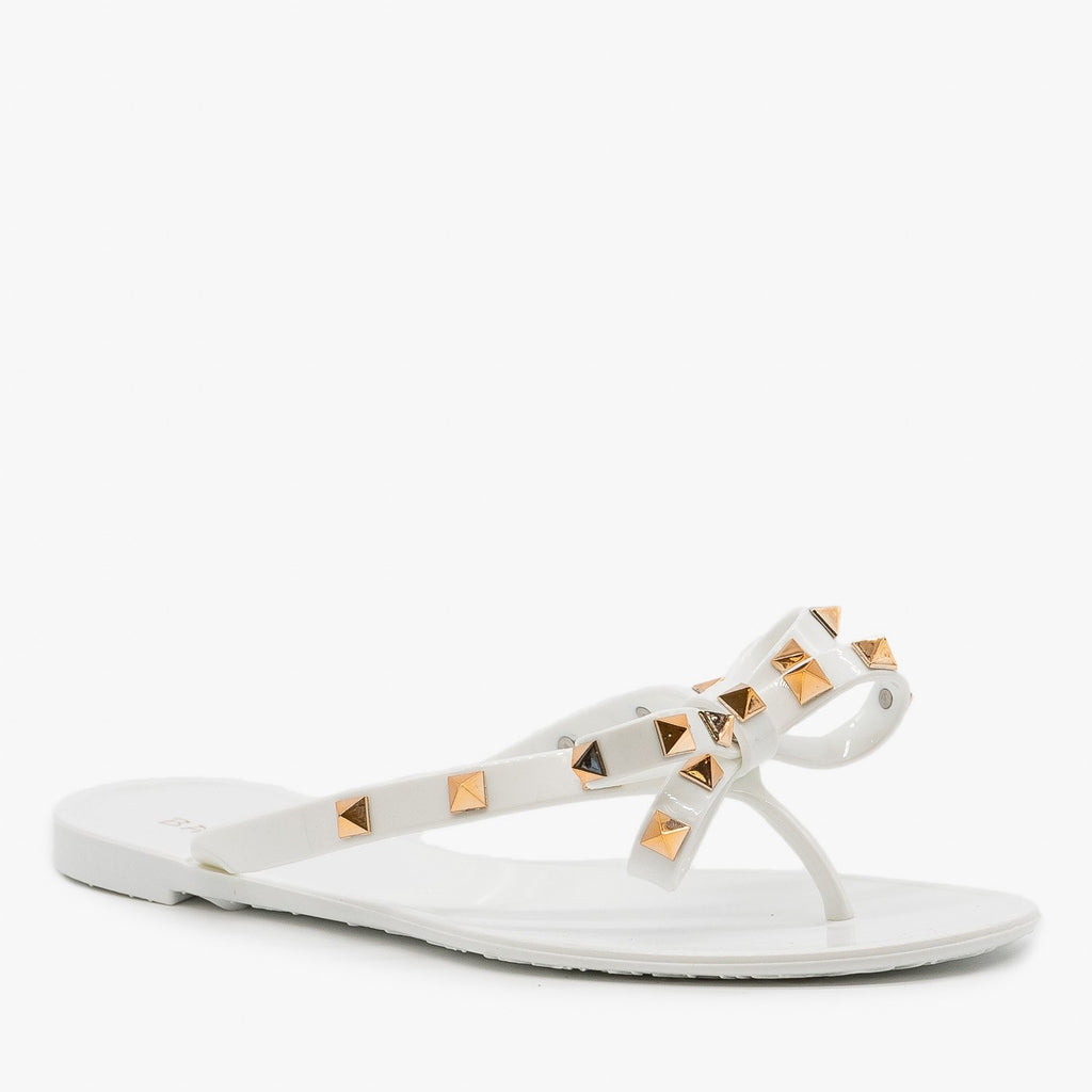 Womens Studded Flip Flop Sandals - Bamboo Shoes