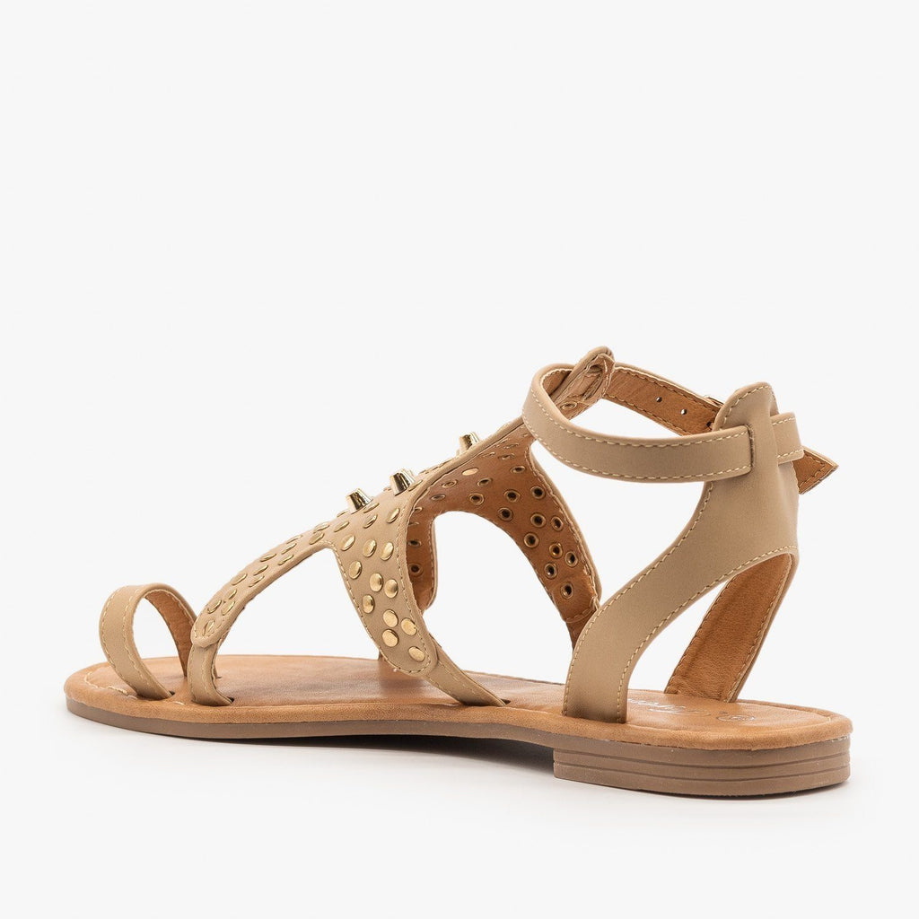 Womens Studded Toe Hold Sandals - Forever