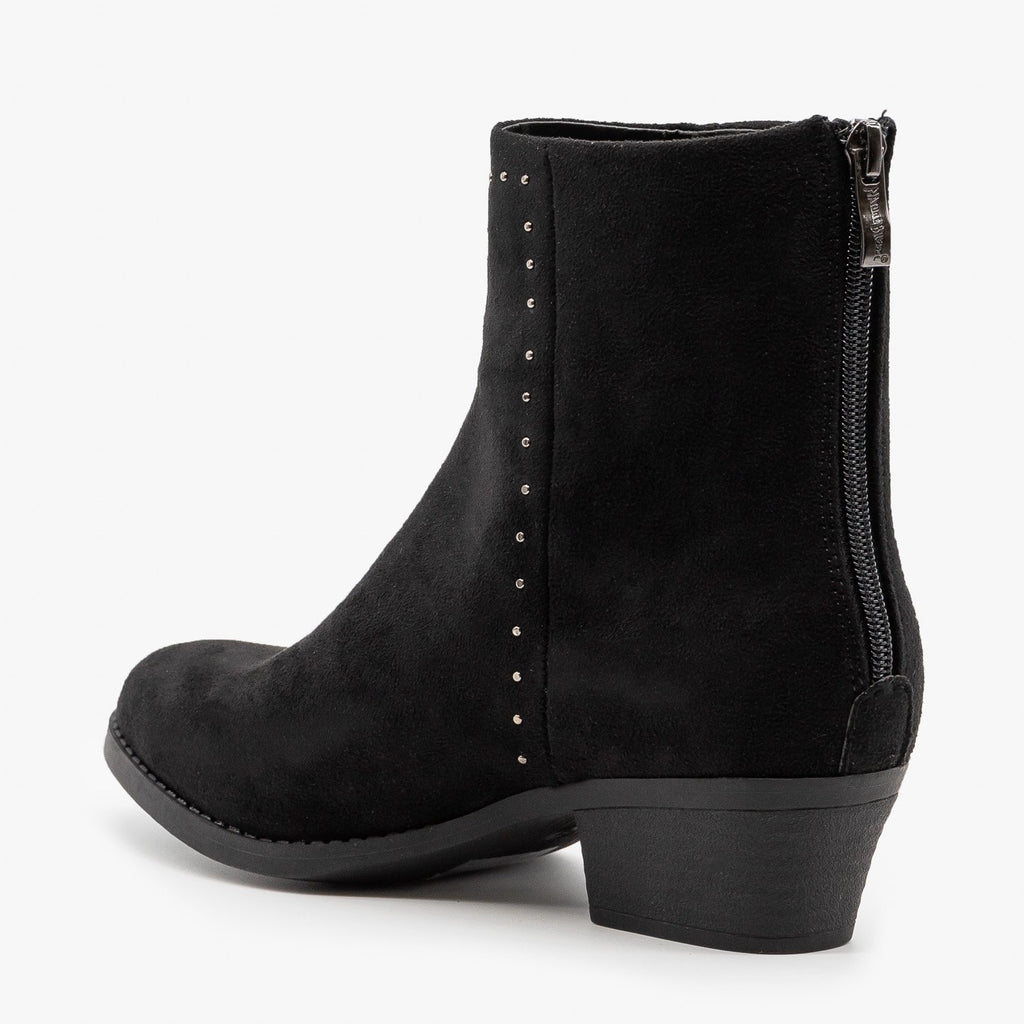 Womens Studded West-Inspired Booties - Nature Breeze