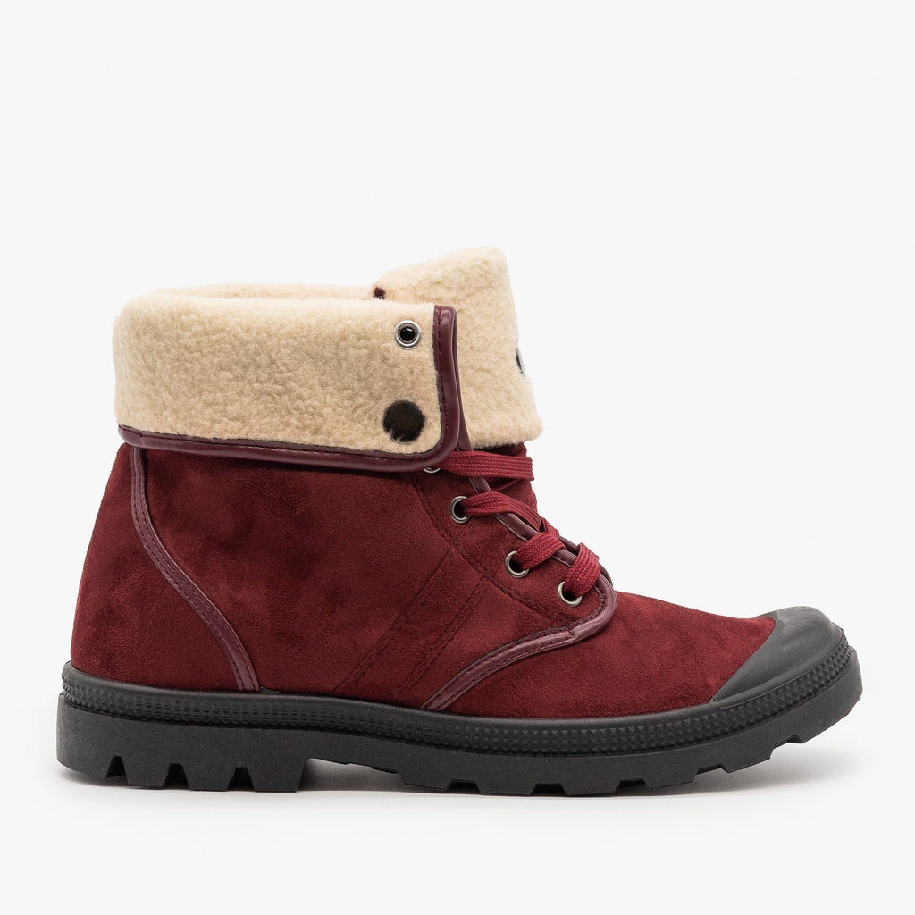 Womens Sturdy Cuffed Winter Boots - Refresh