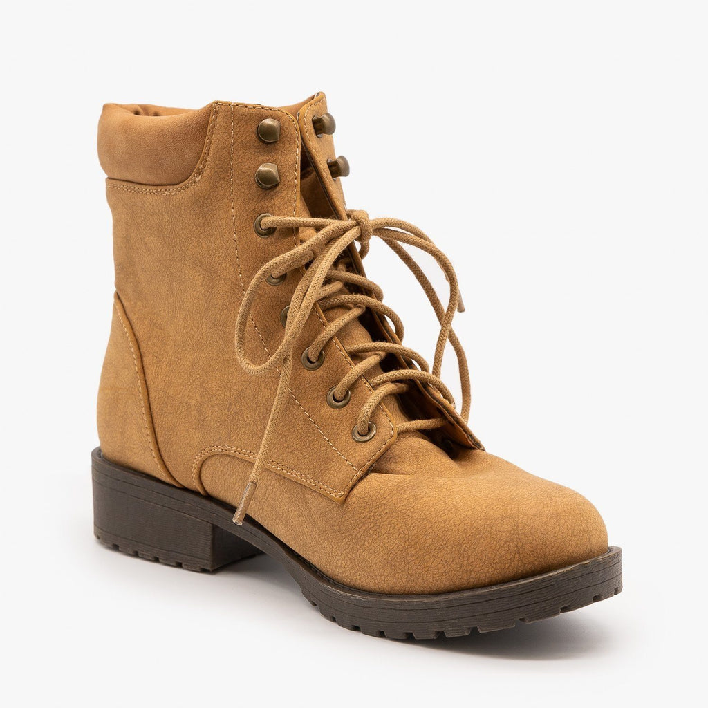 Womens Sturdy Essential Boots - Mata - Tan / 5