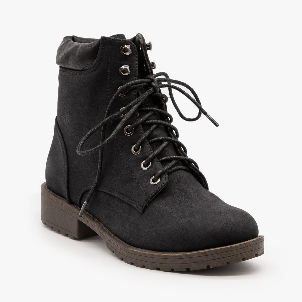 Womens Sturdy Essential Boots - Mata - Black / 5