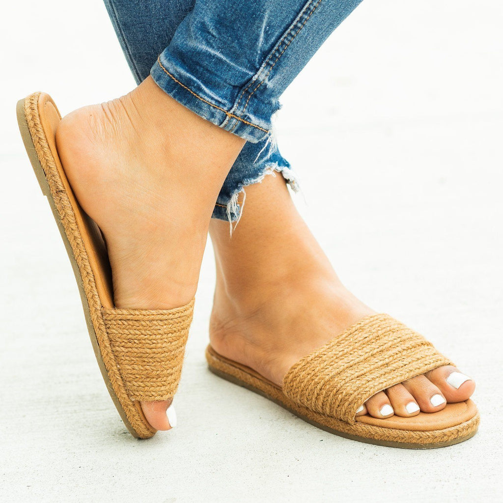 Womens Stylish Espadrille Slip-On Sandals - Bamboo Shoes