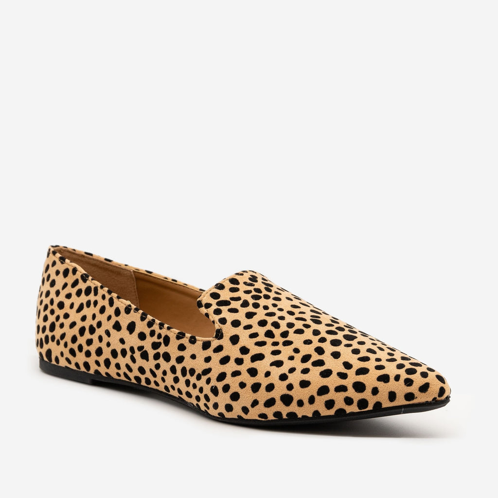 Women's Stylish Leopard Print Flats - Qupid Shoes