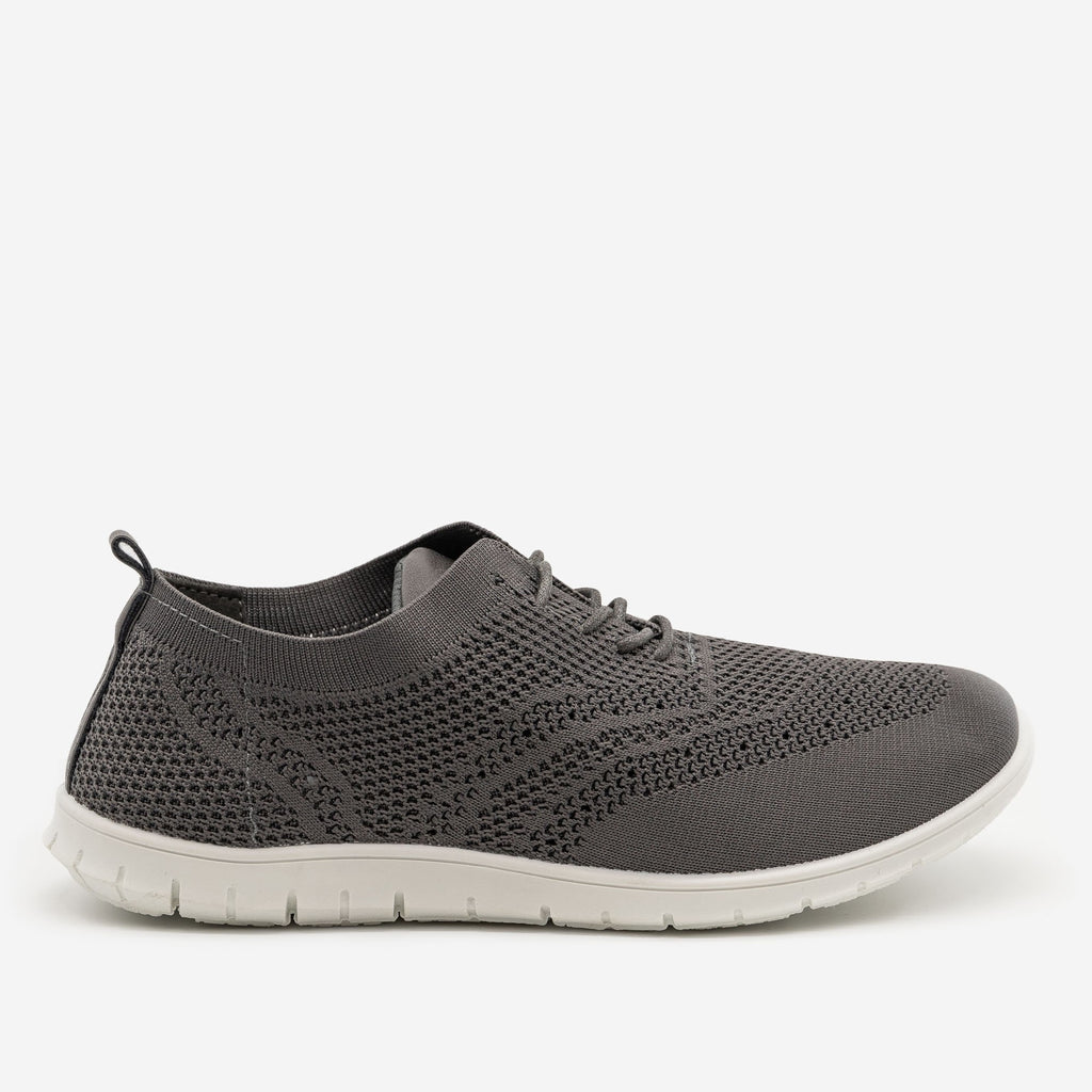 Women's Stylish Pinhole Athletic Sneakers - Refresh - Charcoal / 5