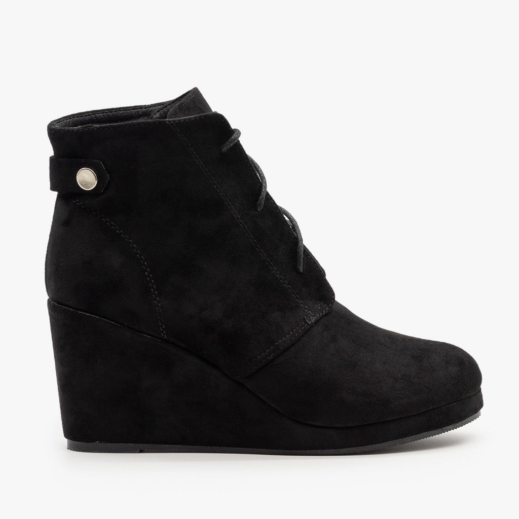Womens Stylish Wedge Heel Ankle Booties - Chase & Chloe