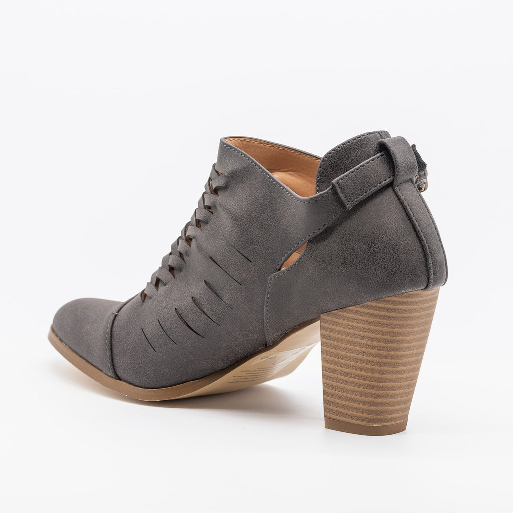 Womens Stylish Woven Ankle Booties - AMS Shoes