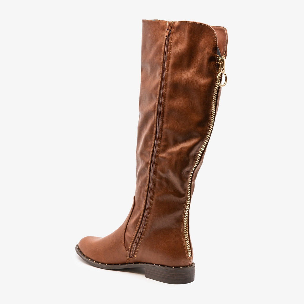 Womens Subtle Details Riding Boot - Bamboo Shoes