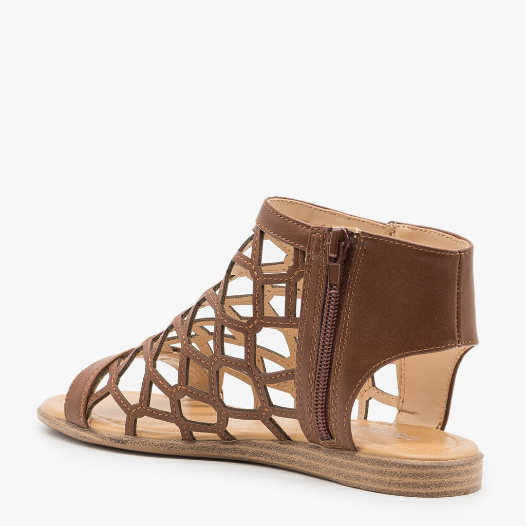 Womens Summer Honeycomb Sandals - City Classified Shoes