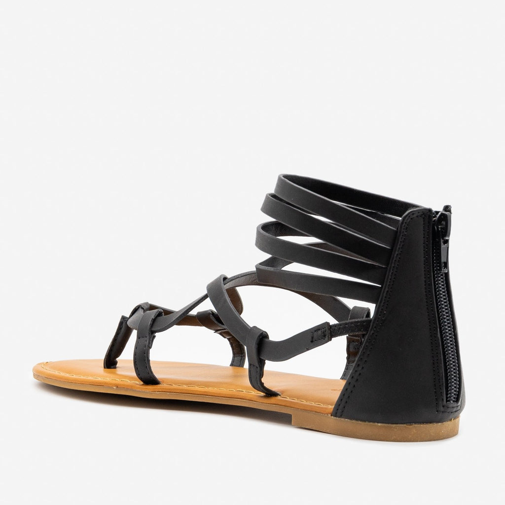 Women's Summertime Strappy Sandals - Bamboo Shoes
