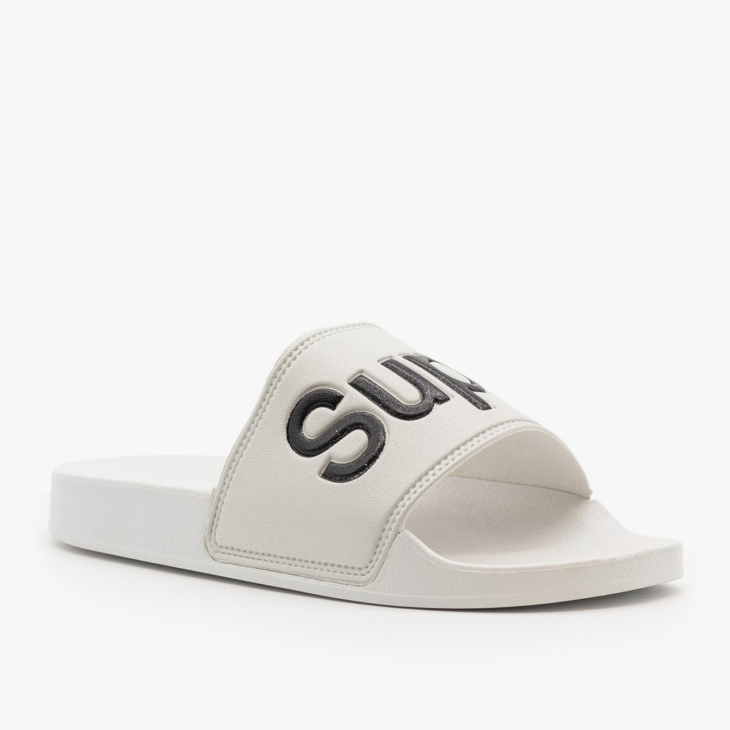 Womens Superstar Comfy Slides - Nature Breeze - White / 5