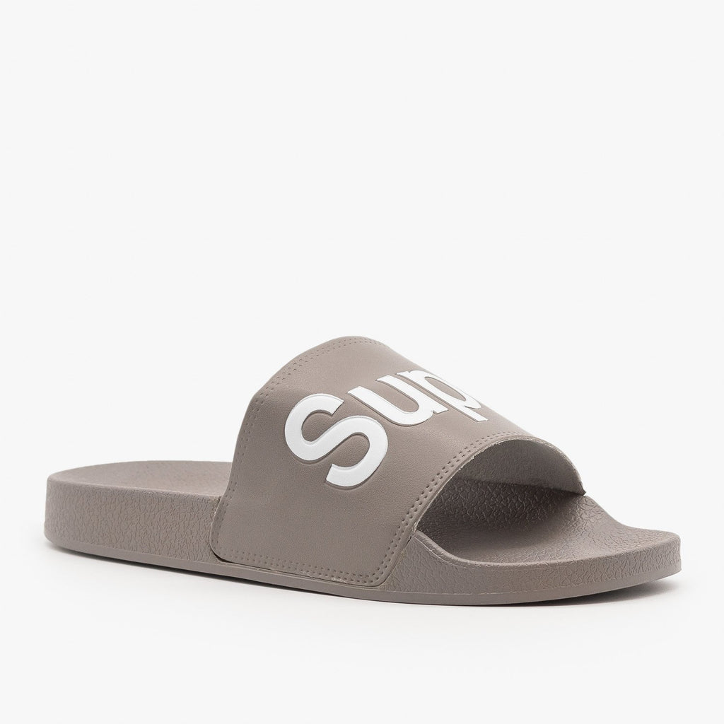 Womens Superstar Comfy Slides - Nature Breeze - Gray / 5