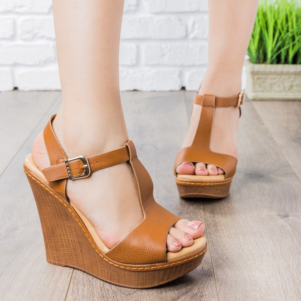 Womens T-Strap Wedges - vendor-unknown