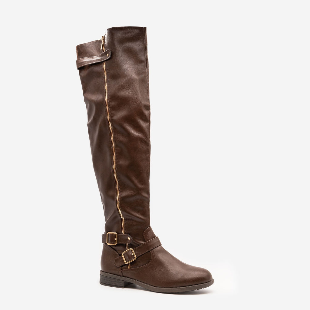 Women's Tall Buckled Boots - Forever