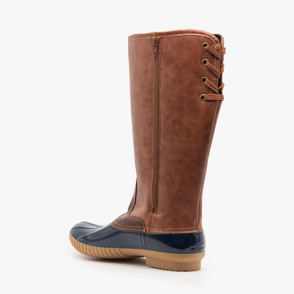 Womens Tall Faux Leather Duck Boots - Yoki