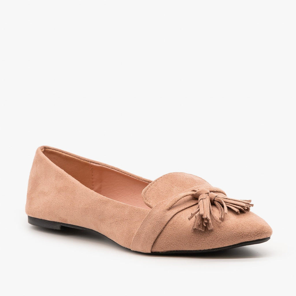 Womens Tassel Loafer Flats - Refresh - Mauve / 5