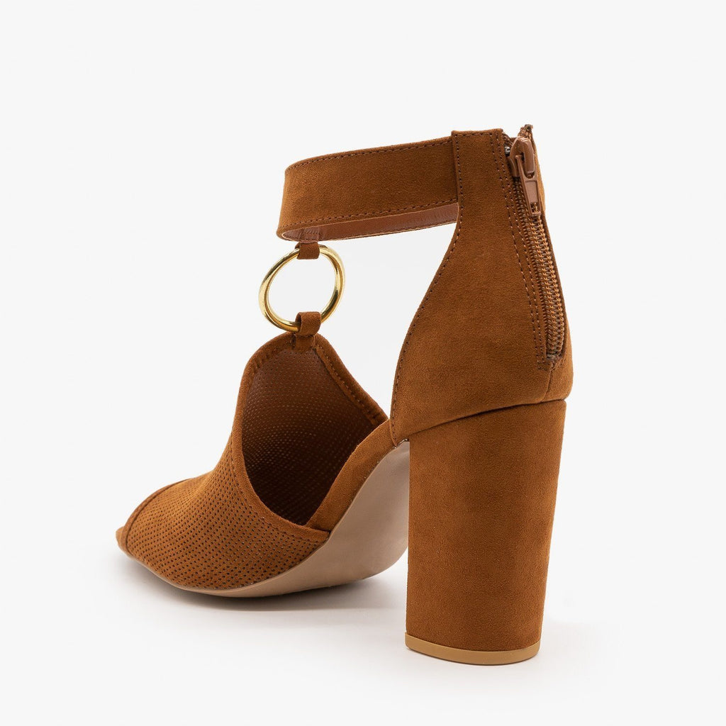 Womens Textured Chunky Heels - Qupid Shoes
