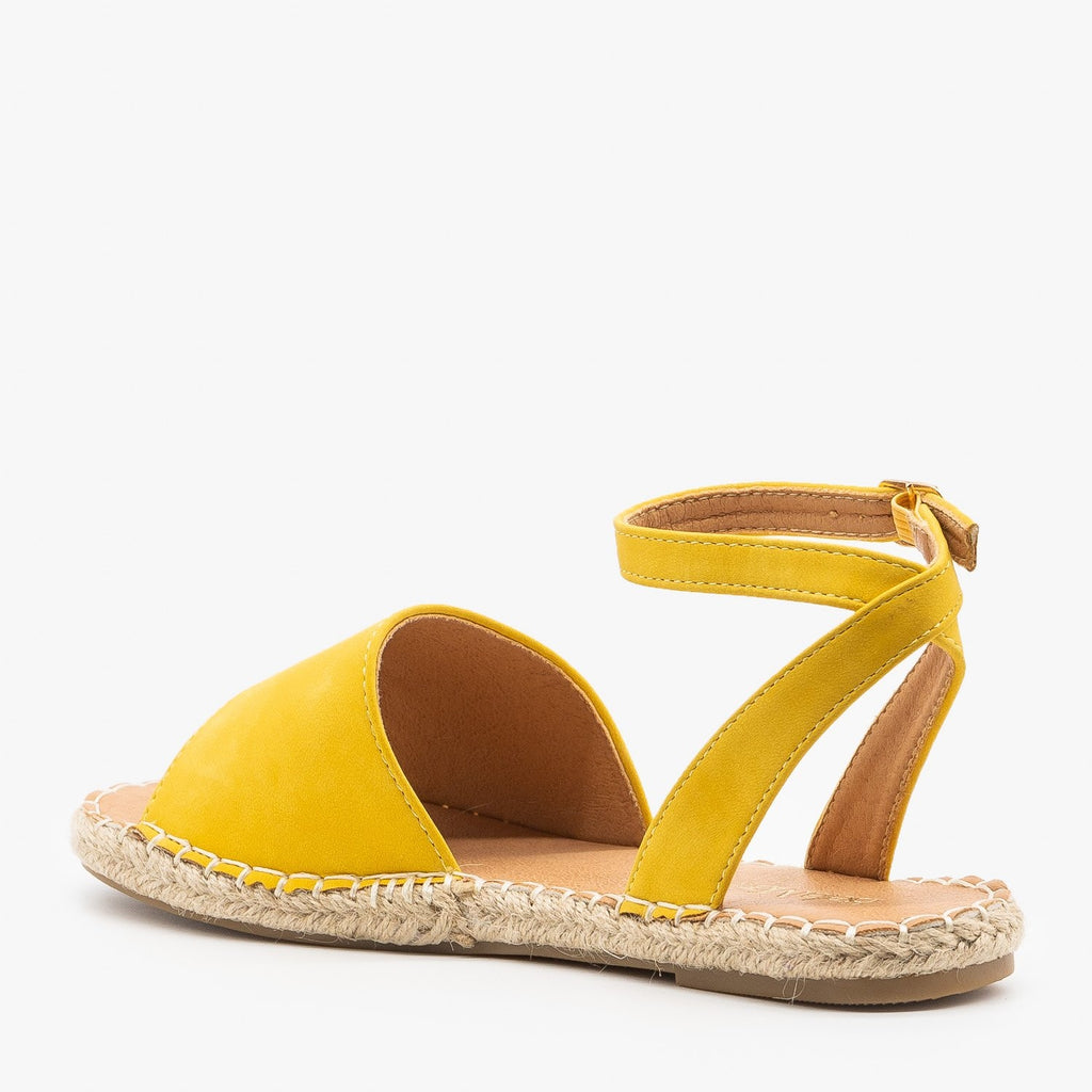 Womens Thick Strap Open-Toe Espadrille Sandals - Bella Marie