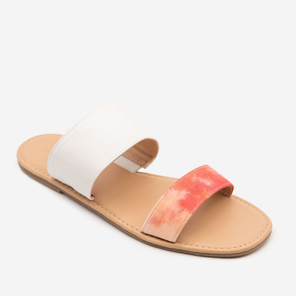 Women's Tie Dye Slip On Sandals - Mata - Tie Dye / 5