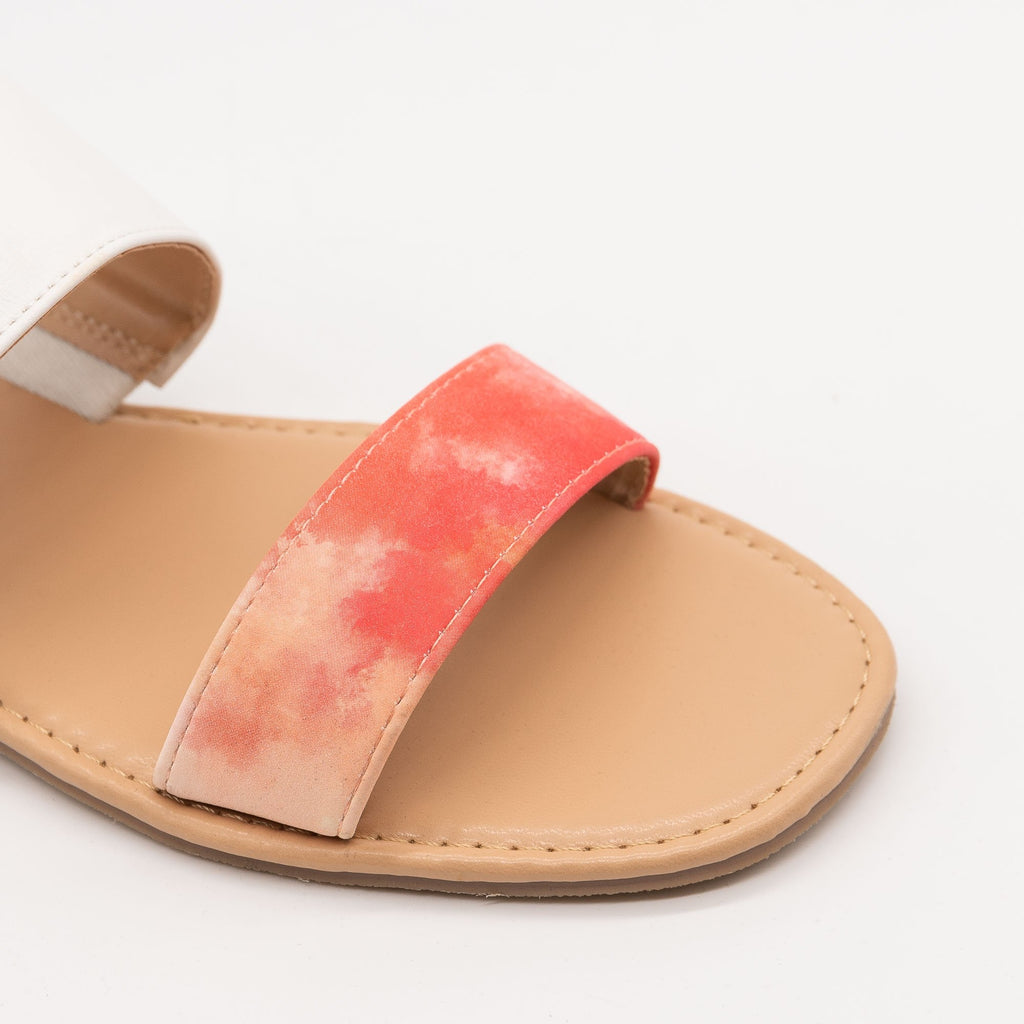 Women's Tie Dye Slip On Sandals - Mata