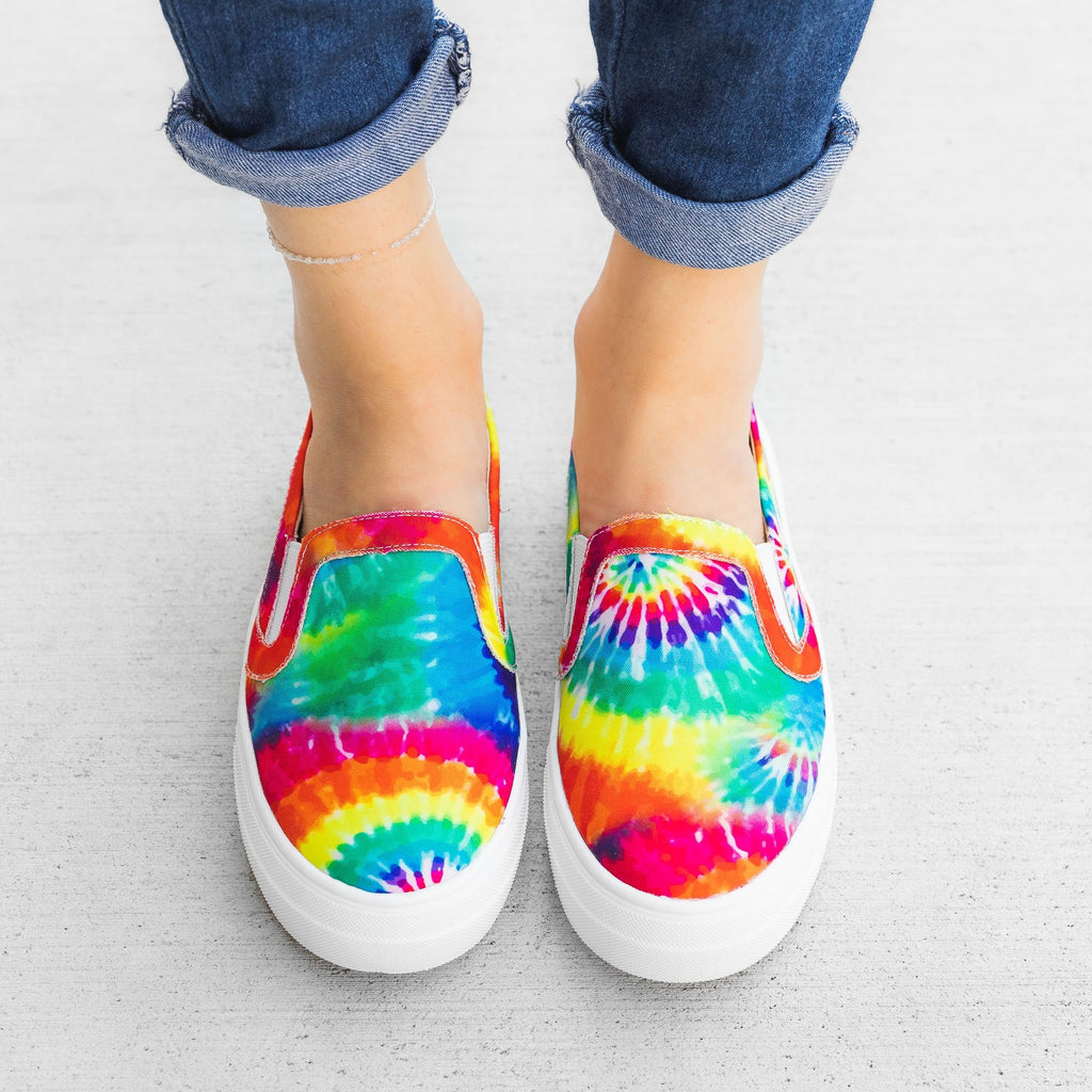 Women's Tie-Dye Slip-On Sneakers - Mata