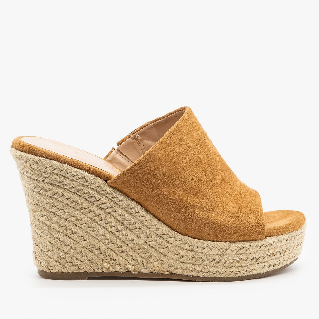 Womens Timeless Espadrille Wedges - Nature Breeze - Mustard / 5