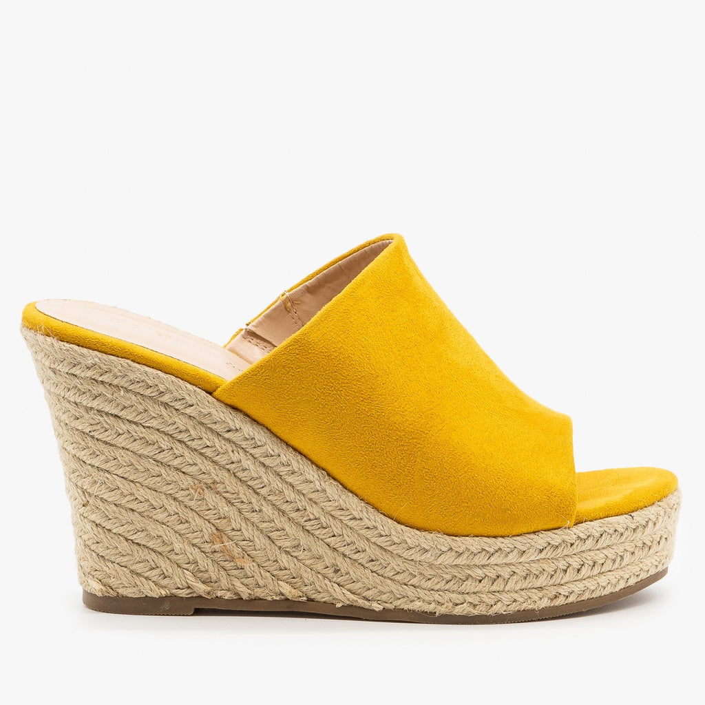 Womens Timeless Espadrille Wedges - Nature Breeze - Mustard / 5.5