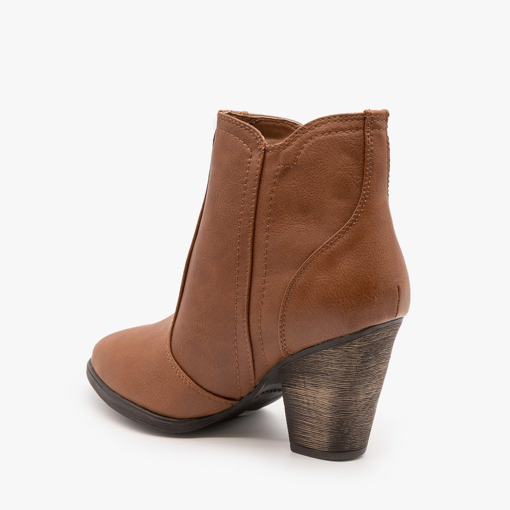 Womens Timeless Heeled Booties - Dollhouse Shoes