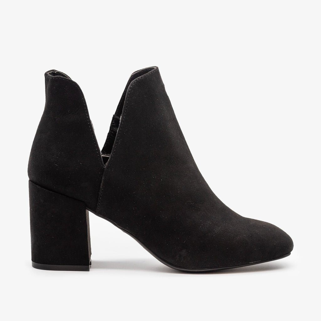 Womens Timeless Side Cut Booties - Bamboo Shoes - Black / 5
