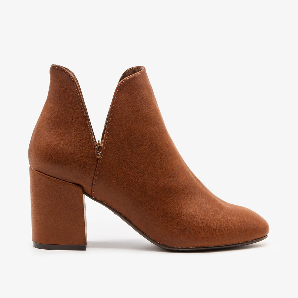 Womens Timeless Side Cut Booties - Bamboo Shoes - Chestnut / 5