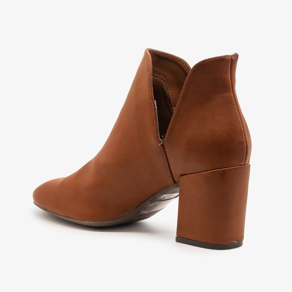 Womens Timeless Side Cut Booties - Bamboo Shoes