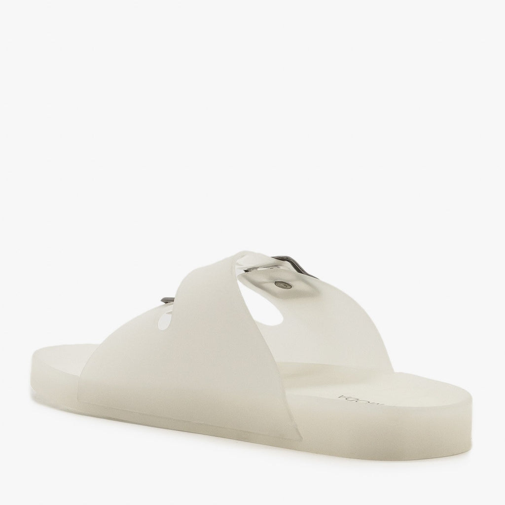 Womens Translucent Jelly Slides - Top Moda