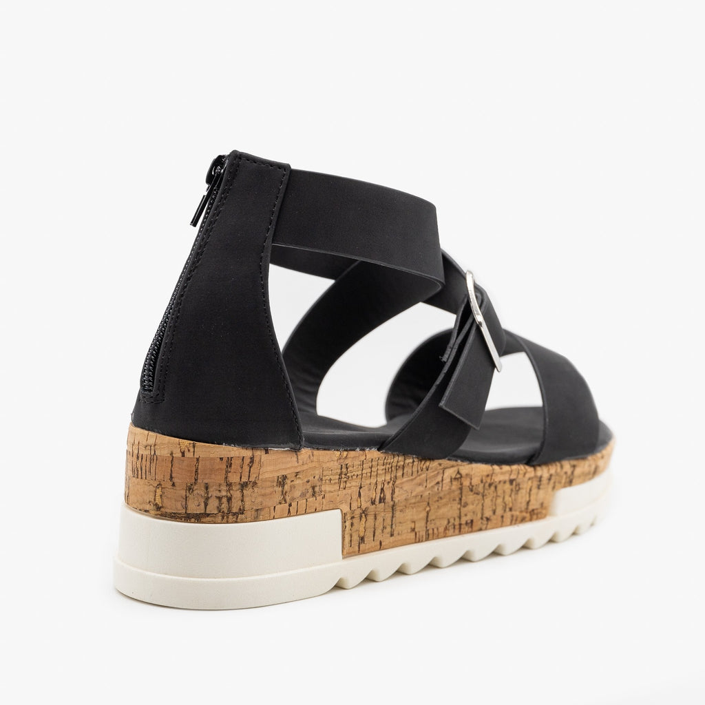Women's Treaded Chunky Cork Sandals - Yoki