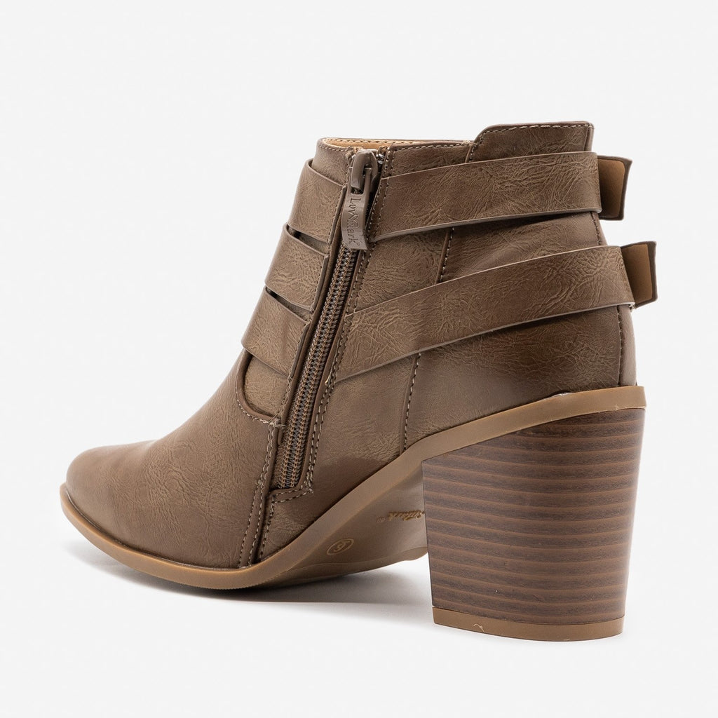 Women's Trendy Buckled Up Booties - Bella Marie