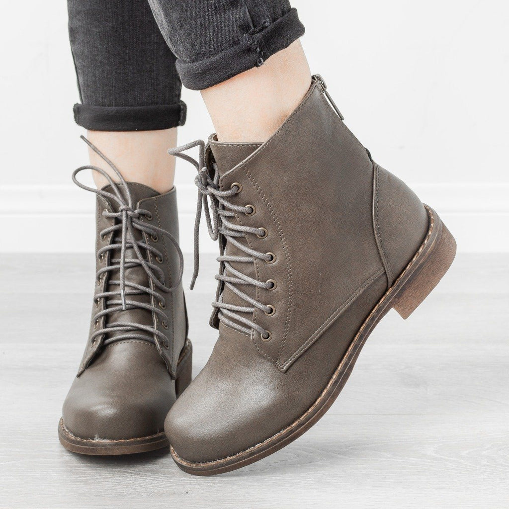 Womens Trendy Classic Utility Boots - Unilady - Avocado / 5