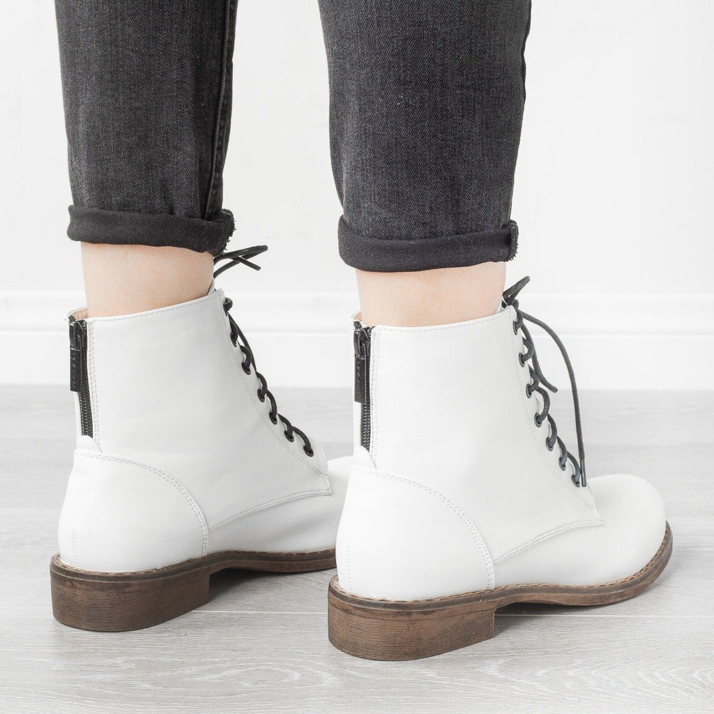 Womens Trendy Classic Utility Boots - Unilady