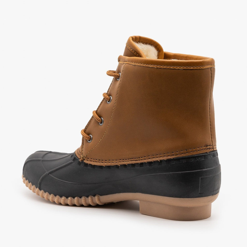 Womens Trendy Combat Duck Boots - Refresh