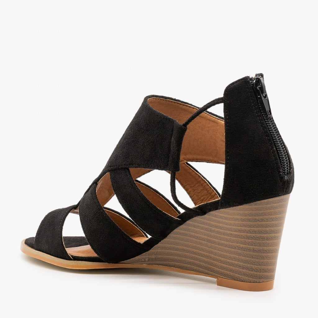 Womens Trendy Cutout Fashion Wedges - Mata