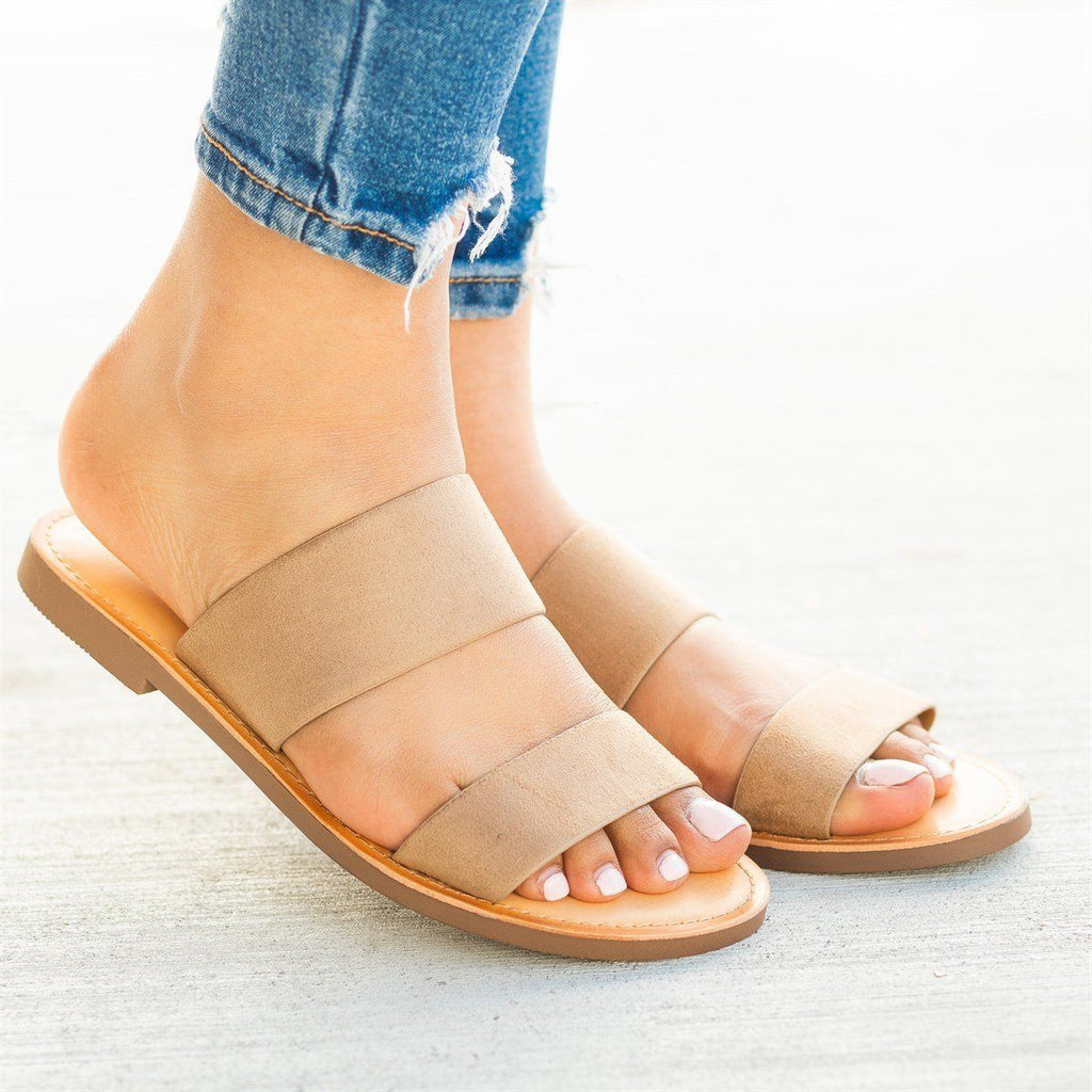 Womens Trendy Double Strap Fashion Sandals - Soda Shoes