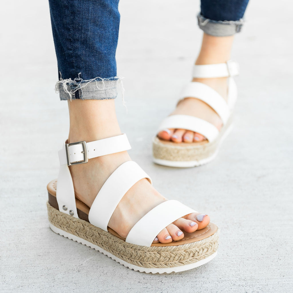 Women's Trendy Espadrille Flatform Wedges - Refresh