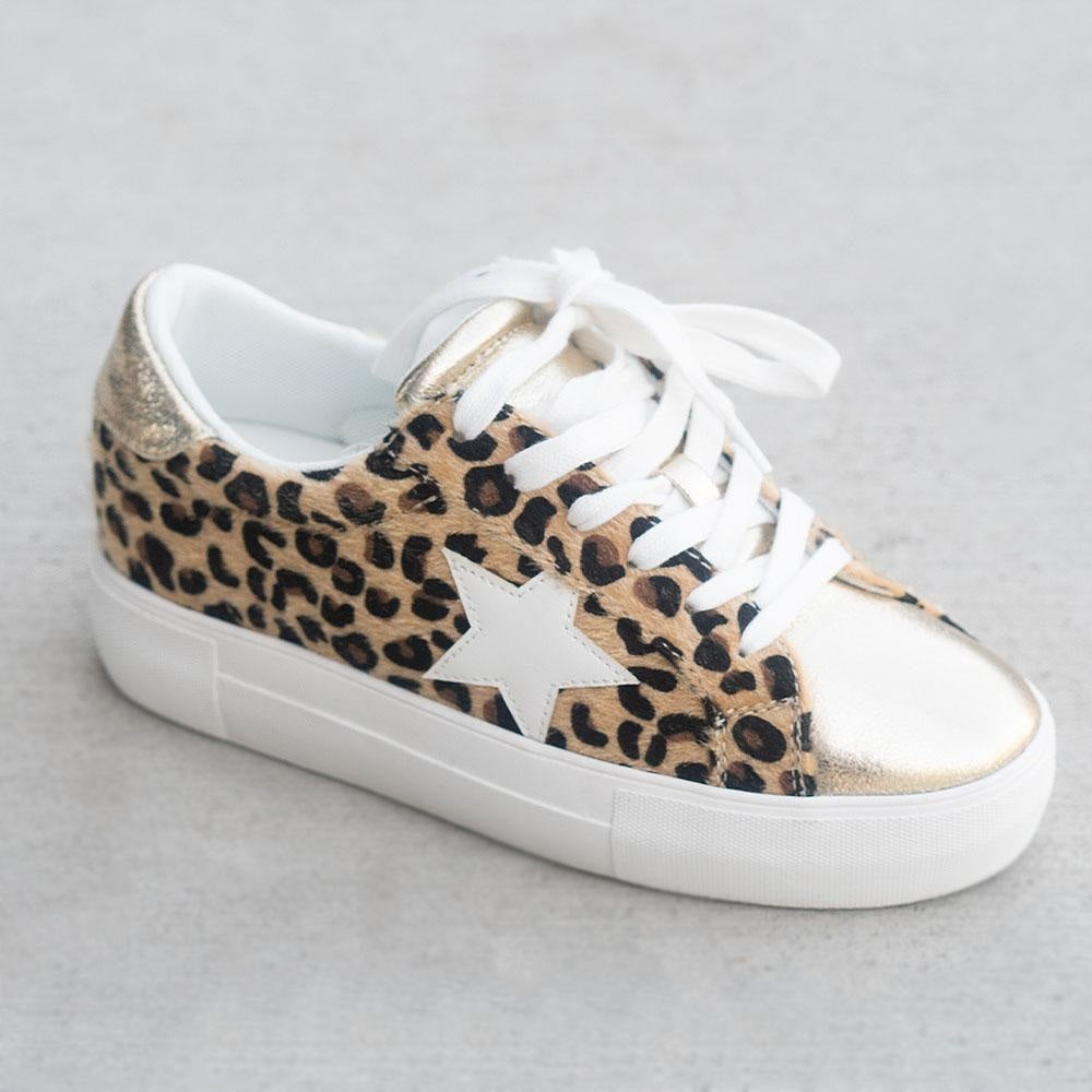 Women's Trendy Fashion Sneakers - Unbranded/Generic - Cheetah / 5