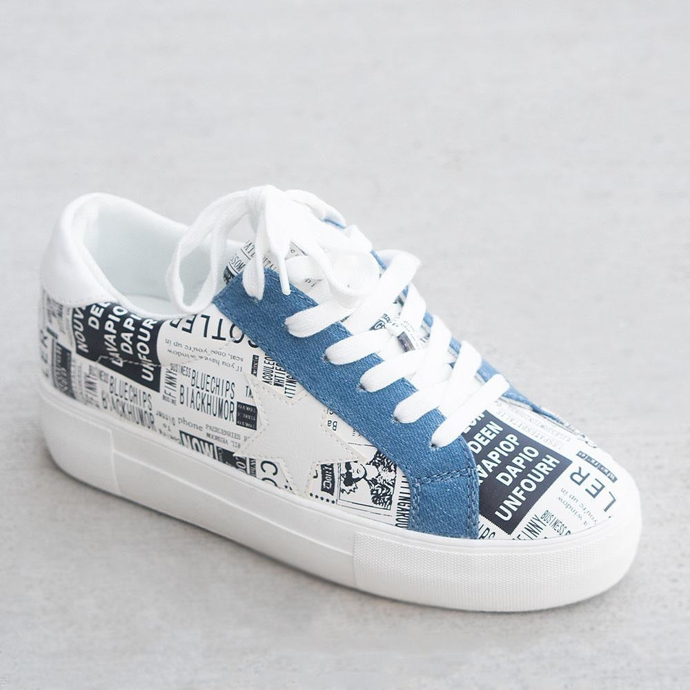 Women's Trendy Fashion Sneakers - Unbranded/Generic - Fashion Print / 5