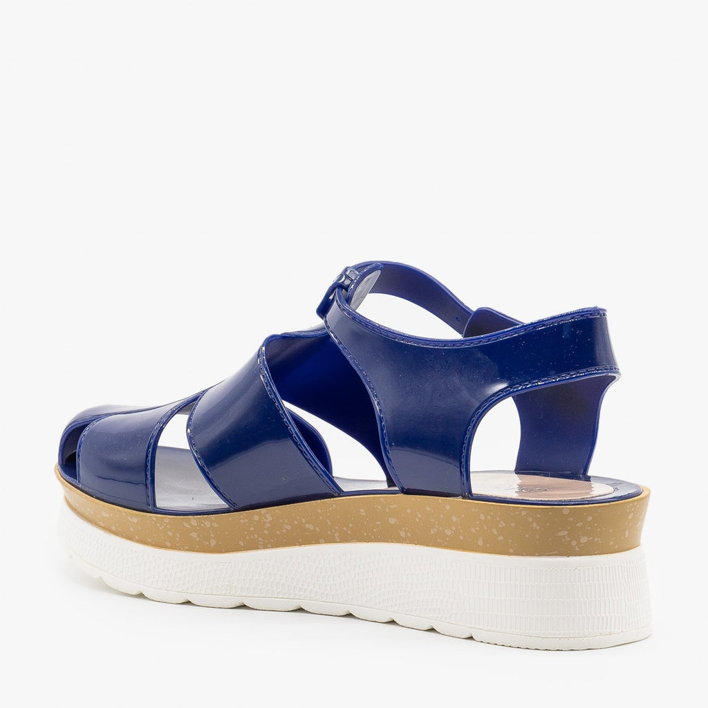 Womens Trendy Jelly Platform Sandals - Refresh