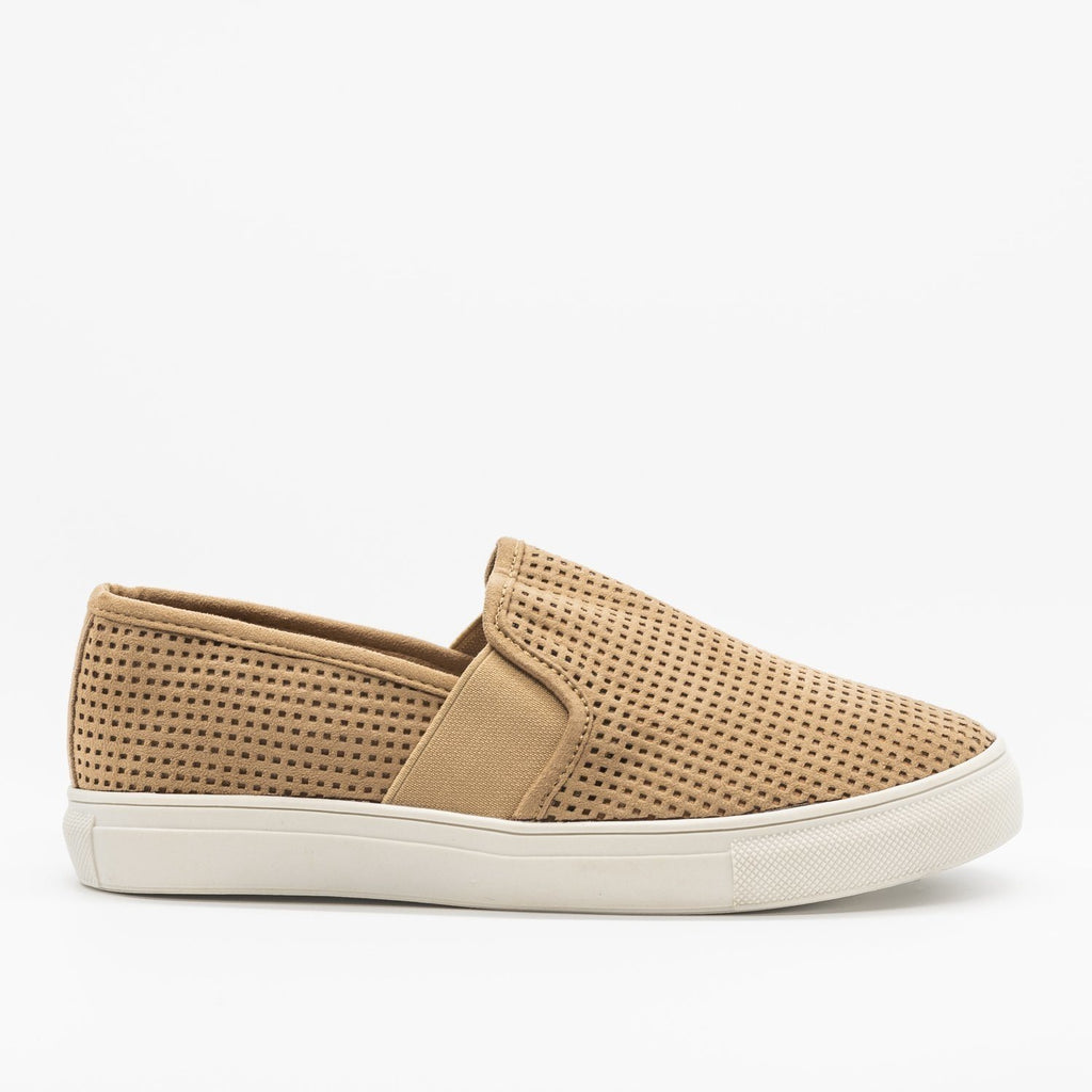 Womens Trendy Mesh Slip-On Sneakers - Soho Girls