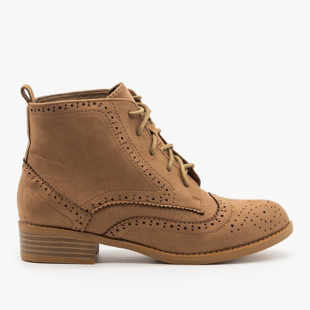 Womens Trendy Oxford Boots - Shoetopia