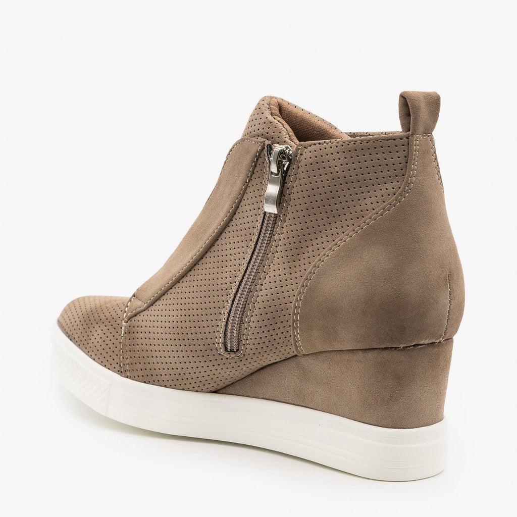 Womens Trendy Pinhole Sneaker Wedges - CCOCCI