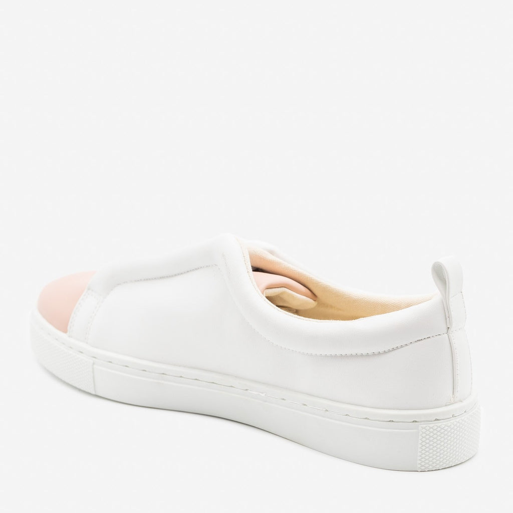 Women's Trendy Platform Slip On Sneakers - Qupid Shoes